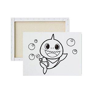 Tela para Pintura Infantil - Baby Shark