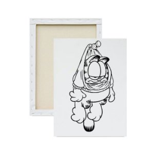 Tela para Pintura Infantil - Garfield Pendurado