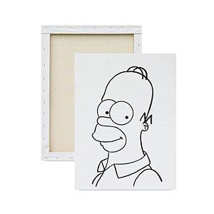 Tela para Pintura Infantil - Homer Simpson