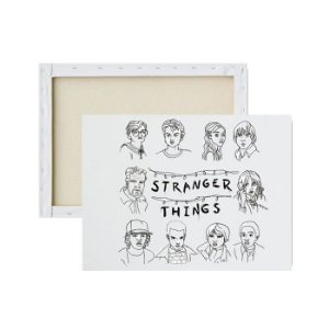 Tela para Pintura Infantil - Personagens de Stranger Things
