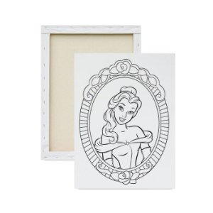 Tela para Pintura Infantil - Princesa Bela no Espelho