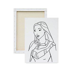 Tela para Pintura Infantil - Princesa Pocahontas