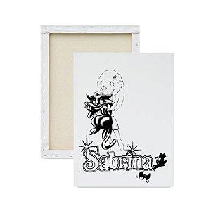 Tela para Pintura Infantil - Sabrina e seu Gatinho