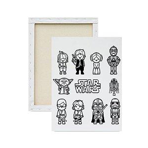 Tela para Pintura Infantil - Star Wars Desenho