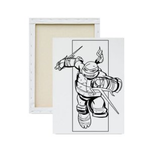 Tela para Pintura Infantil - Tartaruga Ninja