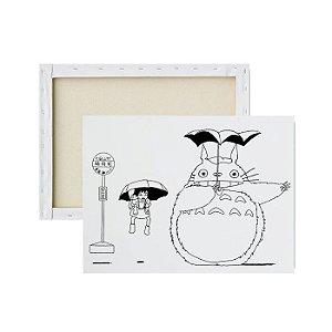 Tela para Pintura Infantil - Totoro e amigos