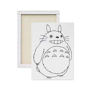 Tela para Pintura Infantil - Totoro sorrindo