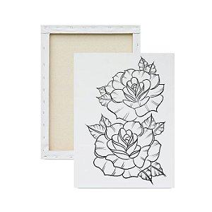Tela Para Pintura Infantil - Rosas