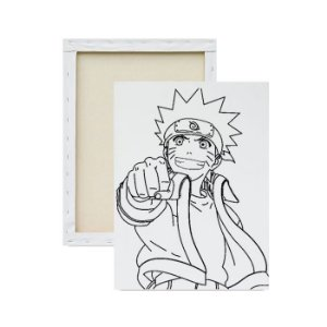 Tela Para Pintura Infantil - Naruto