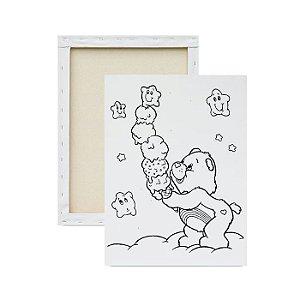 Tela para pintura infantil - Ursinhos Carinhosos