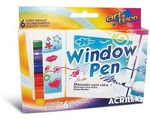 Window Pen - Caneta para Vidro (06 corers)