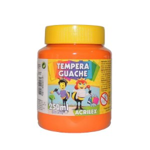 Tinta Tempera Guache Acrilex 250 ml 517 - Laranja