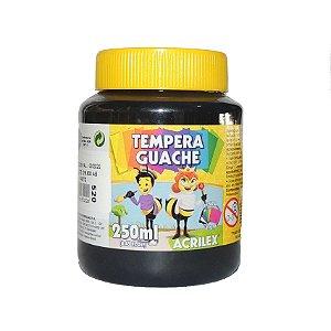 Tinta Tempera Guache Acrilex 250 ml 520 - Preto