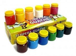Tinta Tempera Guache - 12 cores