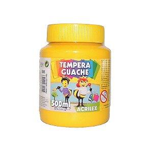 Tinta Tempera Guache Acrilex 500 ml 505 - Amarelo Ouro
