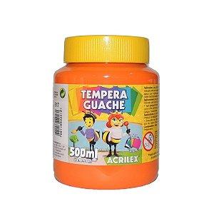 Tinta Tempera Guache Acrilex 500 ml 517 - Laranja