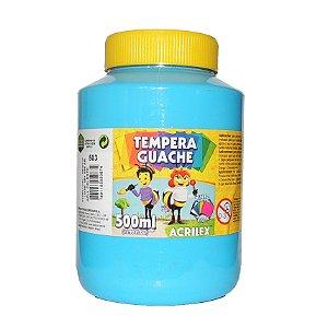 Tinta Tempera Guache Acrilex 500 ml 503 - Azul Celeste