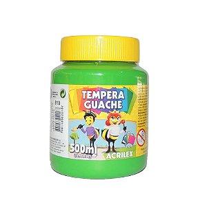 Tinta Tempera Guache Acrilex 500 ml 510 - Verde Folha
