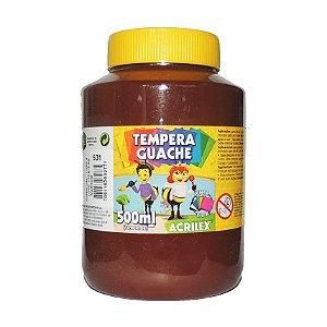 Tinta Tempera Guache Acrilex 500 ml 531- Marrom