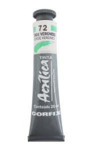 Tinta Acrilica Corfix 20ml 72 Verde Veronese