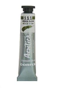 Tinta Acrilica Corfix 20ml 111 Verde Oliva