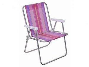 Cadeira Mor Alta Alumínio Rosa