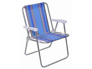 Cadeira Mor Alta Alumínio Azul Escuro