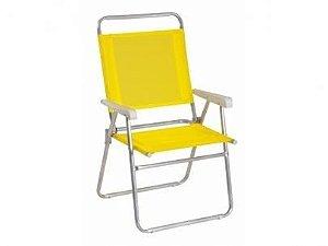 Cadeira Mor Master Plus Alumínio Amarelo -  120kg