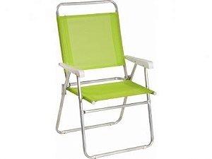 Cadeira Mor Master Plus Alumínio Verde -  120kg