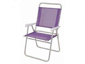Cadeira Mor Master Plus Alumínio Roxo - 120kg