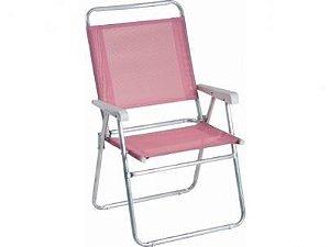 Cadeira Mor Master Plus Alumínio Rosa -  120kg