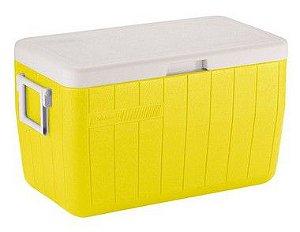 Caixa Térmica Coleman 48 QT - 45,6 Litros Amarela