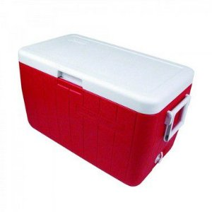 Caixa Térmica Coleman 48 QT - 45,6 Litros Vermelha
