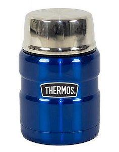 Pote Termico Alimentação Thermos Everest  470ml Azul