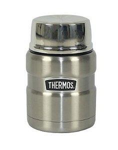 Pote Termico Alimentação Thermos Everest  470ml Prata