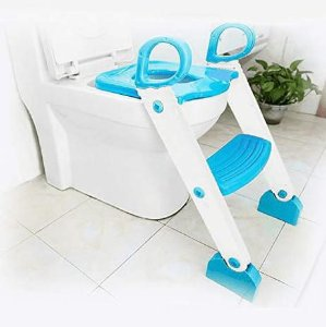 Assento Redutor Com Escada Kiddo Azul