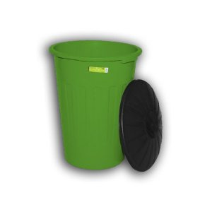Lixeira Topplast C/Tampa Verde 100L
