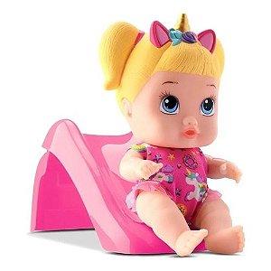Boneca Little Dolls Escorregador Menina 8096