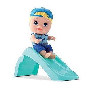 Boneco Little Dolls Playground Menino Com Escorregador - 8095