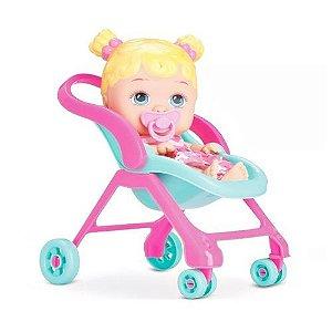 Boneca Bebê Little Dolls Passeio Divertoys - 8027
