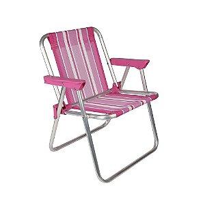 Cadeira Mor Infantil Alta Alumínio Rosa