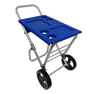 Carrinho de Praia Alumínio Smart Car Azul