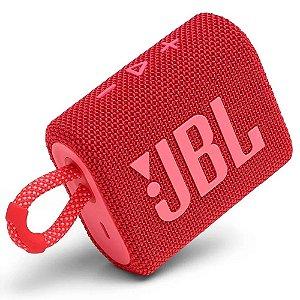 Caixa de Som Bluetooh JBL GO 3 Vermelha