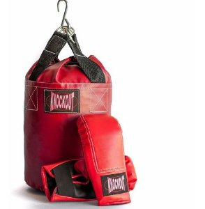 Kit Saco de Boxe Infantil Kcnokout com Luvas