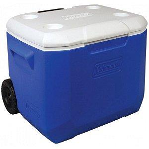 Caixa Térmica Coleman 60 QT 57L Azul com Rodas
