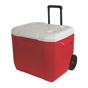 Caixa Térmica Coleman 60 QT com Rodas 57L Vermelha