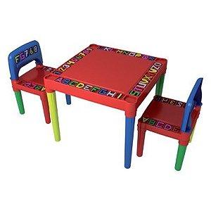 Mesa Tritec Letras com 02 cadeiras