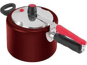 Panela de Pressão Clock 4,5 litros Vermelha