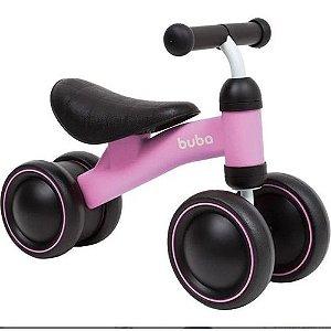 Bicicleta de Equilíbrio BUBA 4 Rodas Rosa