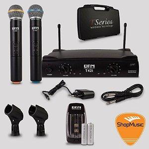 Microfone sem Fio BRM T42i Bastão Duplo